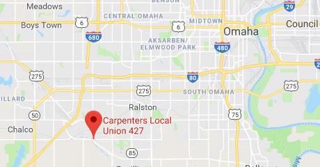 Map of Carpenters Training Center Nebraska Location