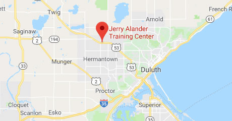 Map of Jerry Alander Training Center Location