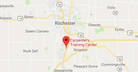 Map of Rochester Training Center Location